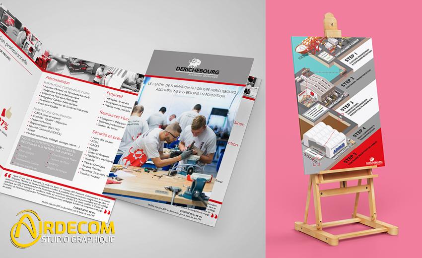 Quelques exemples de réalisations du studio graphique Airdecom :