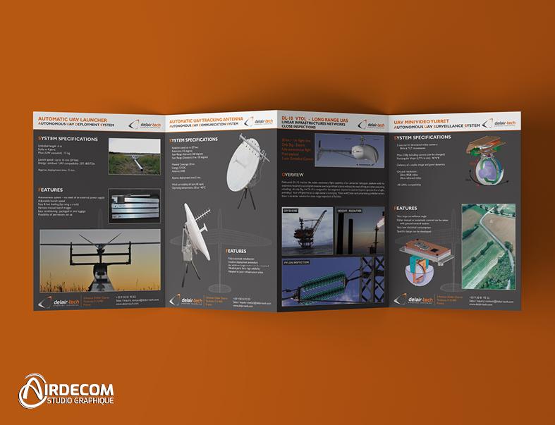 Airdecom, création de plaquette commerciale